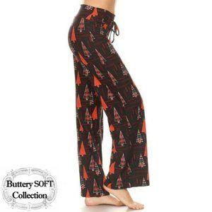 Christmas Tree Print Pajama Pants